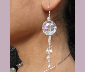 Prism and pearl earrings
