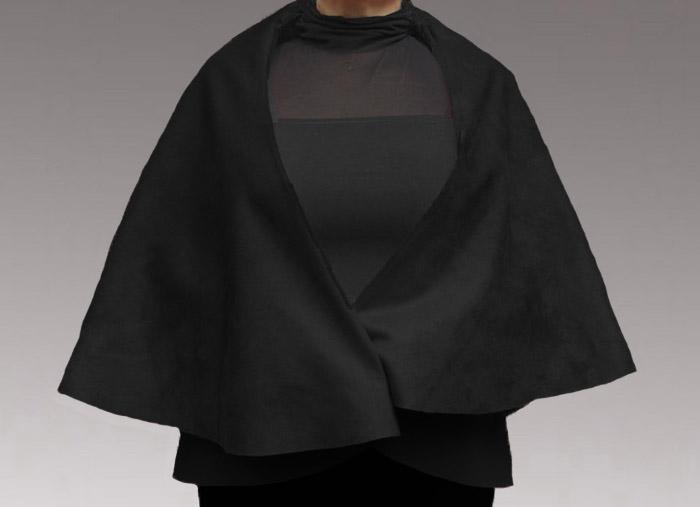 Faux leather cape/wrap -Without Stencil